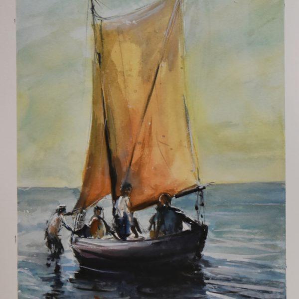 """Stara żaglowa łódź rybacka"""