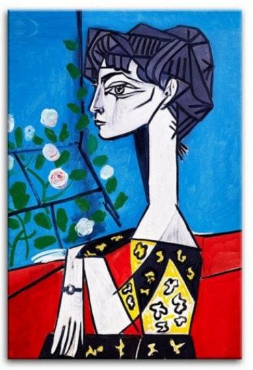 Jacqueline z kwiatami