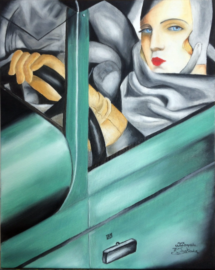 Zielone Bugatti