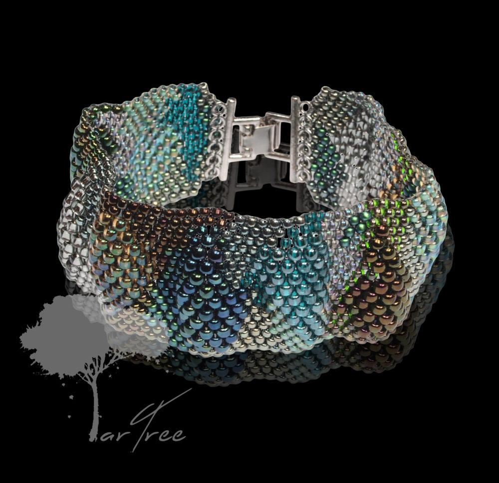 Bransoleta srebrno turkusowa Artree Galeria