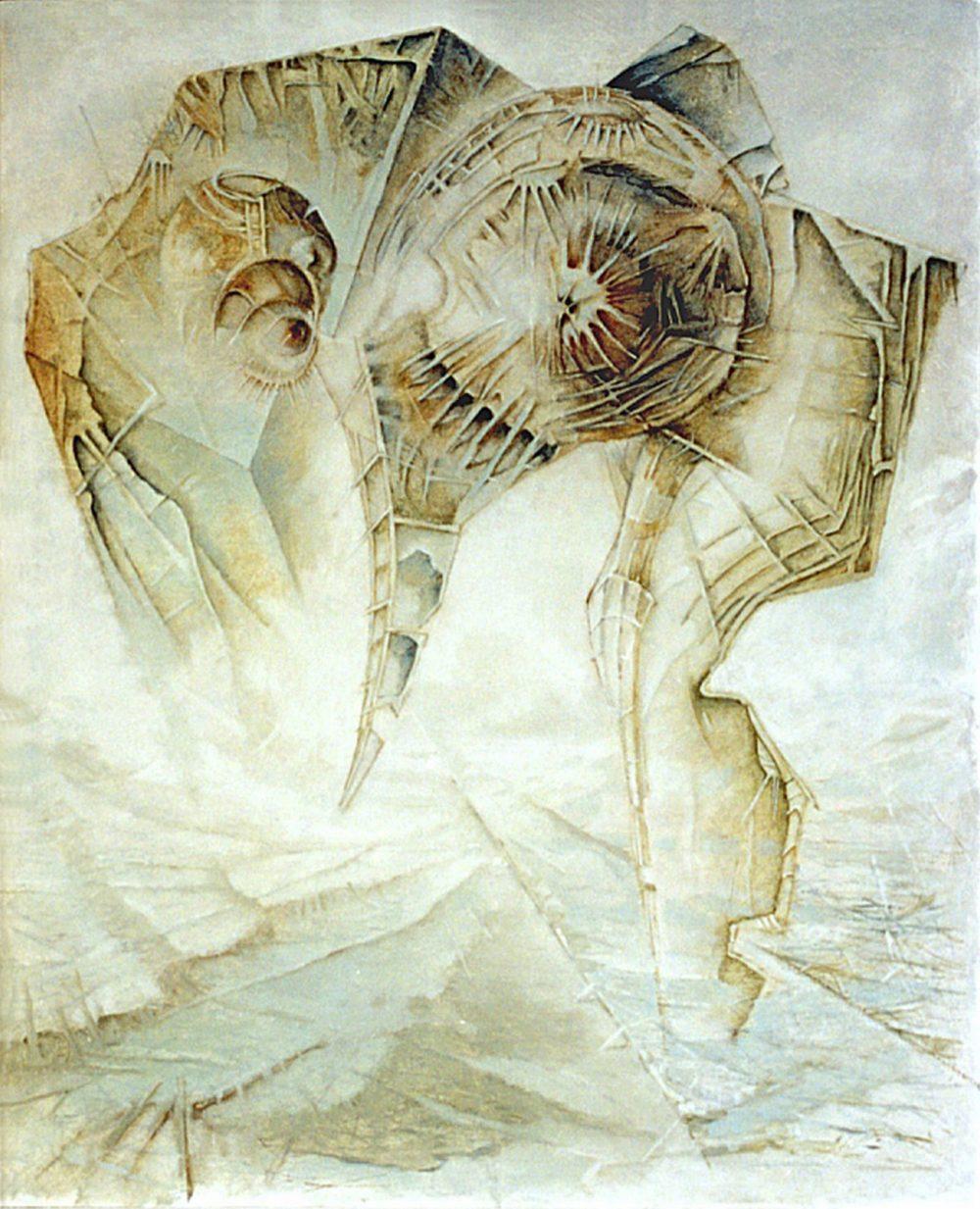 Dąbrowski Waldemar - Pielgrzym - obraz obraz, płótno. 80x100 cm