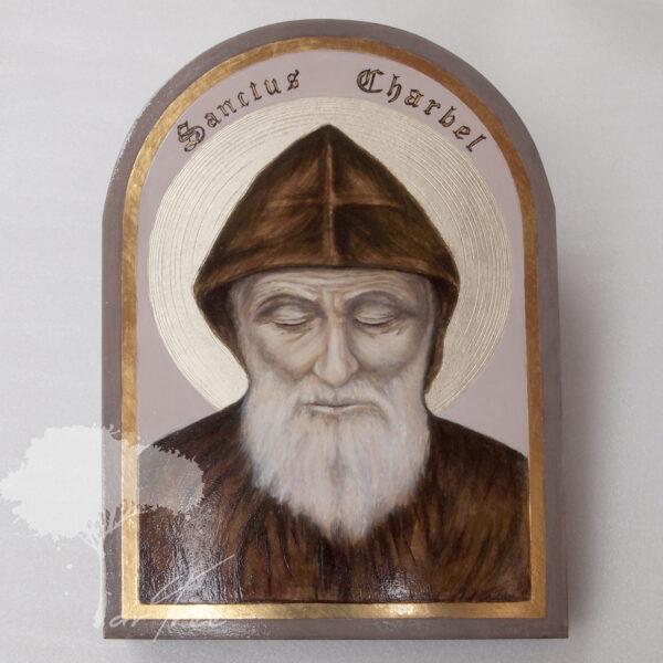 Ikona – relikwiarz – Święty Charbel